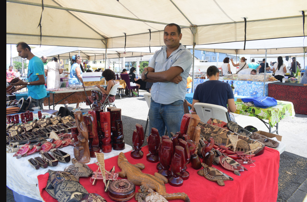 Ronald Chand from Shel Jeweleries and Local Handicrafts at his stall during the Roc Market in Suva on February 17,2019.Photo:Simione Haravanua.