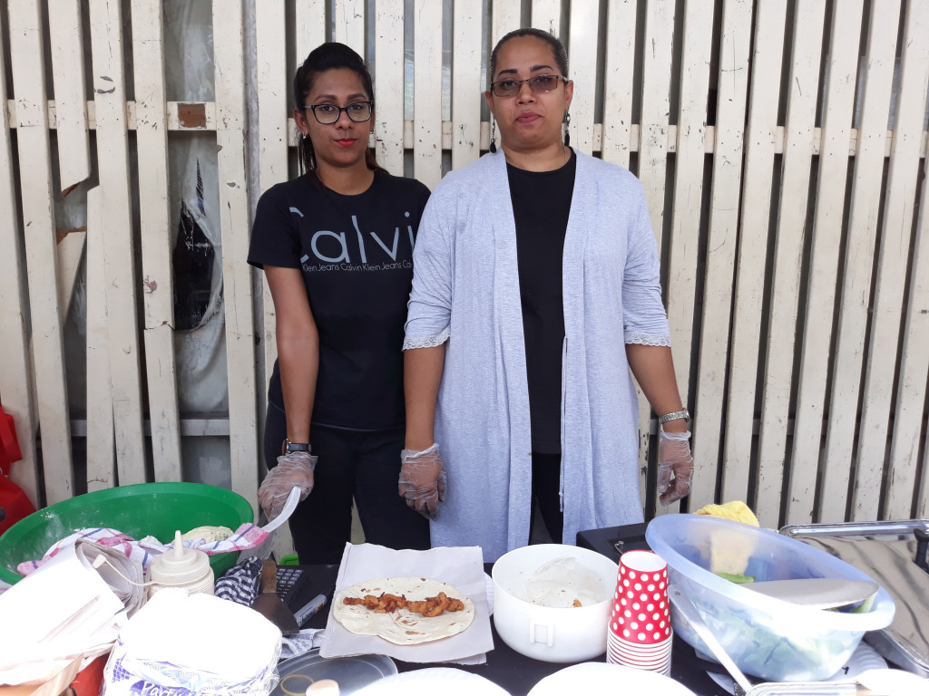 (From left) Farhana Hakim and Fareesha Hakim during the Roc Market on February 17, 2019. Photo: WATI TALEBULA