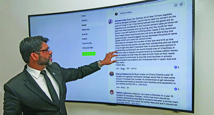 Attorney-General Engages With Students Online