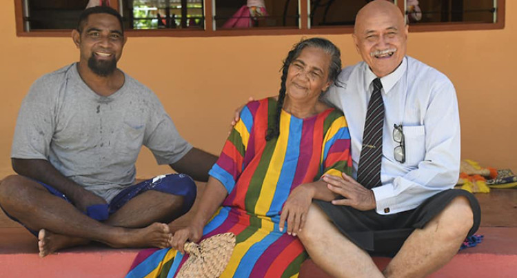 Fiji President and First Lady Visit  Rotuma's Senior Citizens