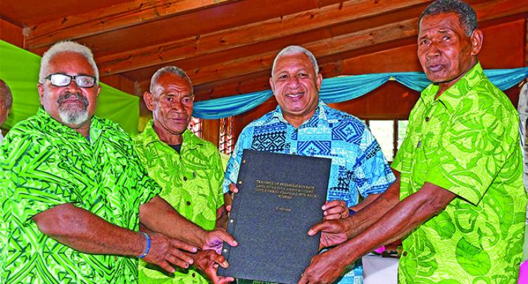 Fiji Prime Minister Hands Over Land To Original Landowners