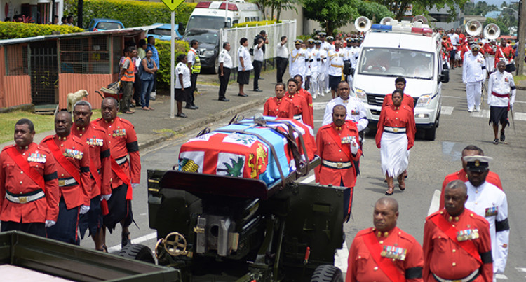 Republic of Fiji Military Forces Escorts Body of Late Colonel Manueli Home