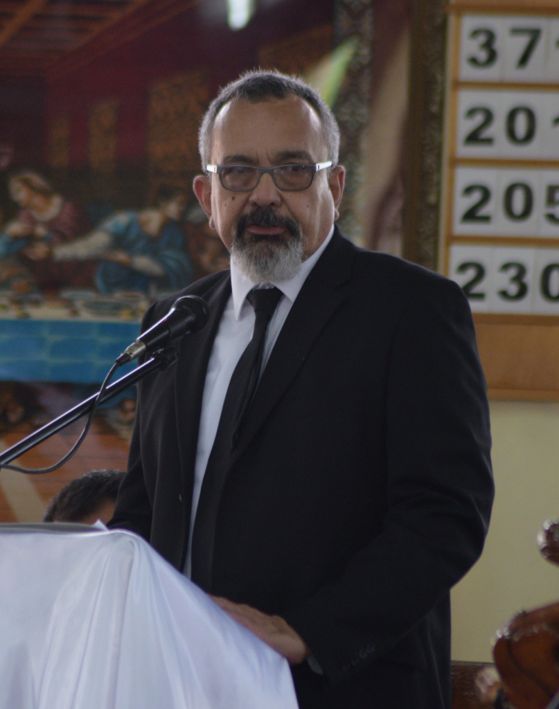 Peter Manueli while speaking at his father and former RFMF Commander Colonel Paul Manueli's funeral service at Churchward Chapel on March 1, 2019. Photo: Ronald Kumar.