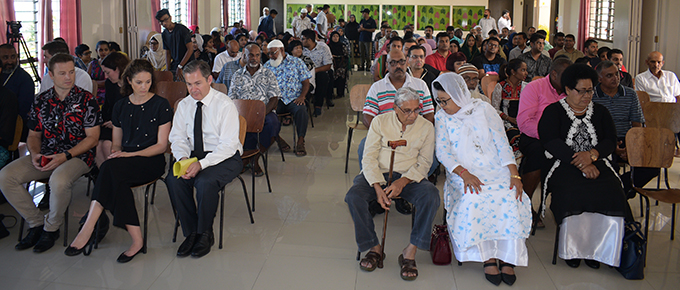 Members of the diplomatic corps and Members of Parliament with Fijians during the open prayer in moral support for our brothers and sisters who were gunned down at Mosques in Christchurch NZ. The prayer vigil was at Makoi Womens Vocational Centre on March 17,2019. Photo:Simione Haravanua.