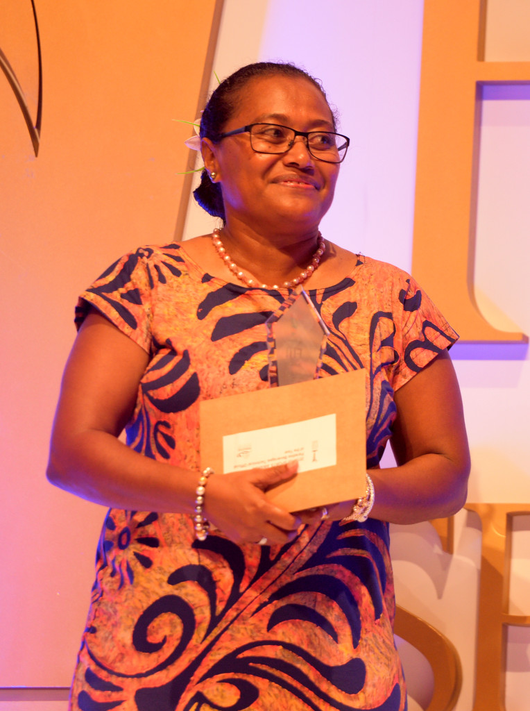 Della Show Elder winner of Technical Official of the year award during 2018 Fiji Sports Awards at FMF Gymnasium on March 01, 2019. Photo: Ronald Kumar.