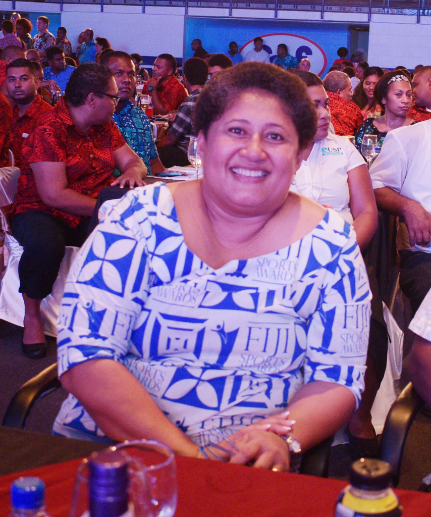 Fiji Sports Council CEO, Litiana Loabuka Guest during 2018 Fiji Sports Award at FMF Gymnasium on March 01, 2019. Photo: Ronald Kumar.