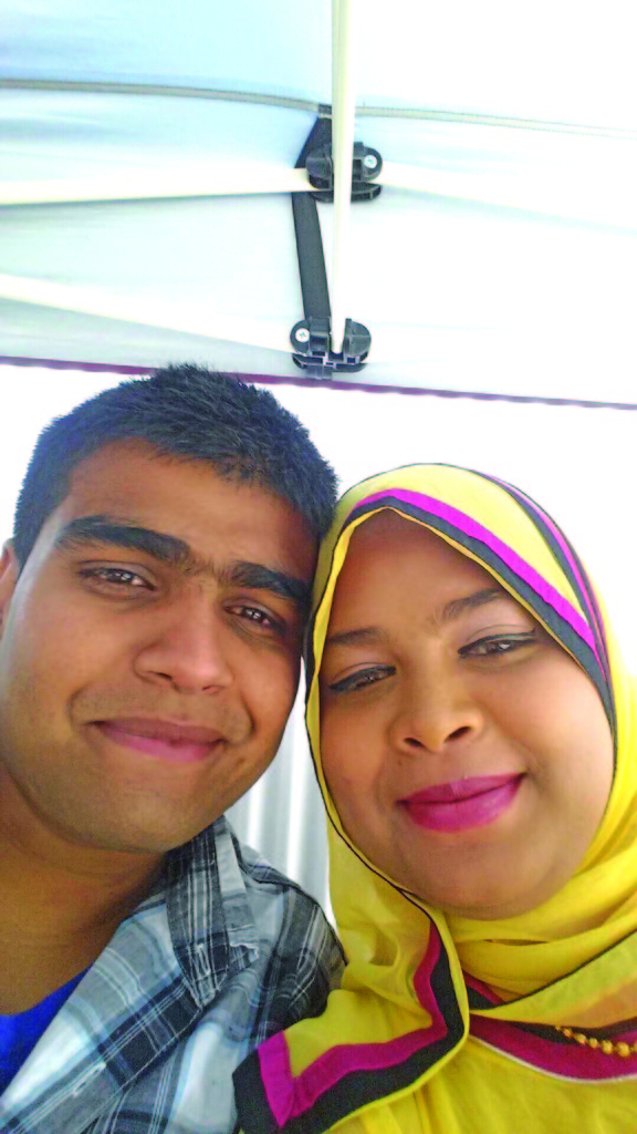 Former Labasa man Shamir Khan (pictured here with wife Ruksaar) was one of the survivors of the deadly shootings that took place at two mosques in Christchurch, New Zealand, on March 15, 2019. Photo: Shamir Khan / Facebook