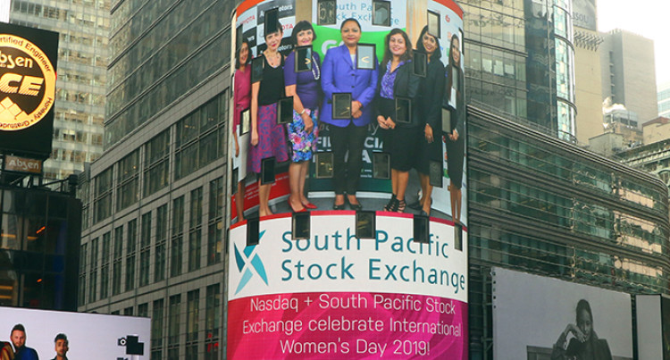 SPSE International Women's Day Event Showcased On NASDAQ Tower