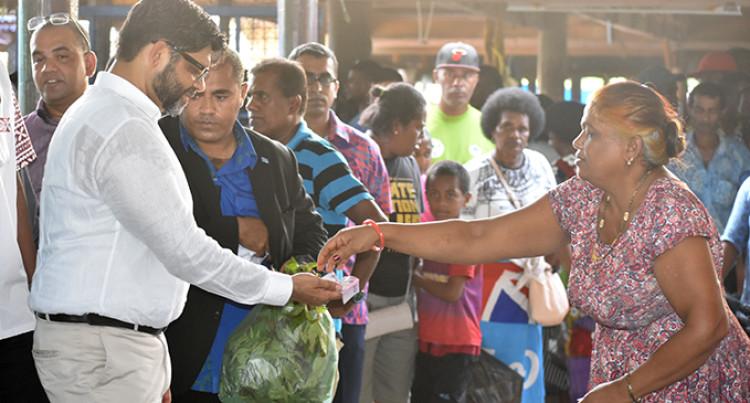 Minister For Economy Hears Labasa Market Vendors' Complaints