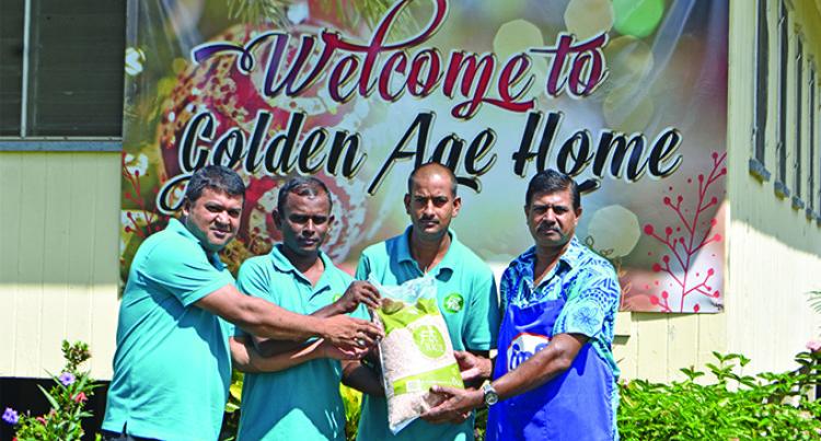 Fiji Rice Mill Workers Donate Food To Labasa's Elderly