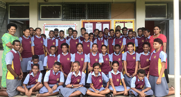 Nabua Secondary School: Athletes Ready For Today's Competition