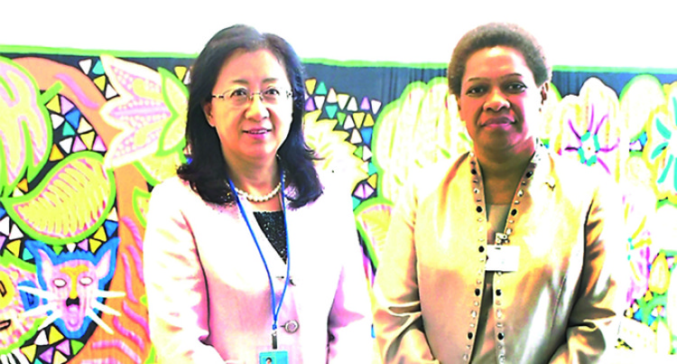 Mereseini Vuniwaqa Meets Chinese Women's Movement VP