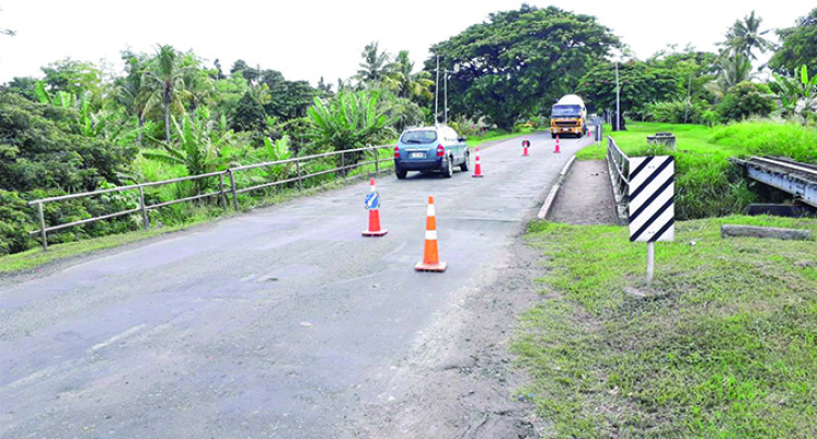 Sewer Burst In Lautoka Damage Part of Bridge