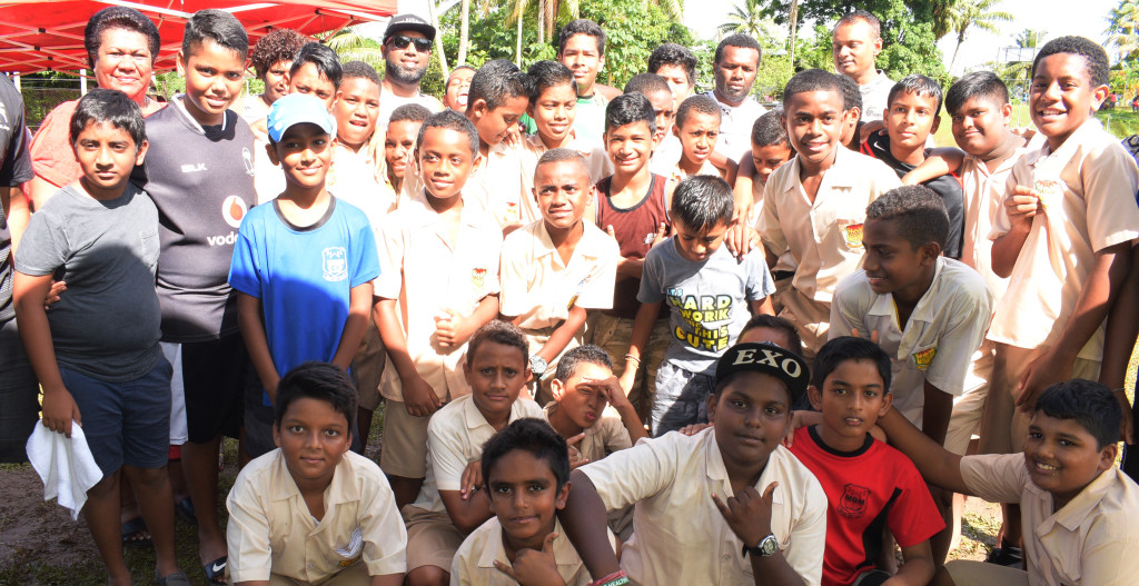 MGM under 13 rugby side for Ram Sami Nasinu kaji rugby at AOG ground in Kinoya on March 30, 2019. Photo: Ronald Kumar.