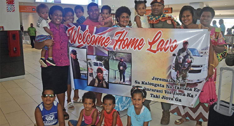 Big Welcome for Peacekeeper Serumaia Bose