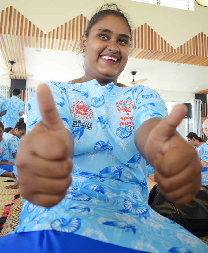 Special Olympic Fiji team table tennis player, Devina Goundar at the State House, Suva on February 28, 2019. Photo: Ronald Kumar.