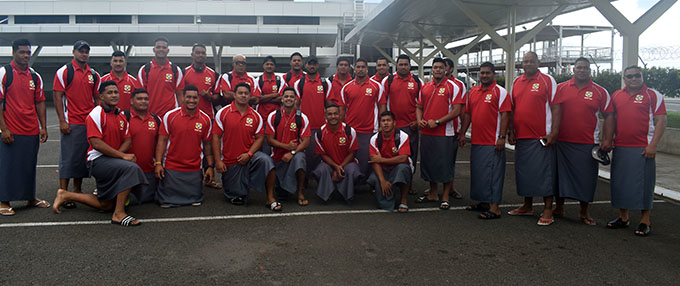 The Tonga A rugby team at Nadi International Airport on March 4, 2019. Photo: Mereleki Nai
