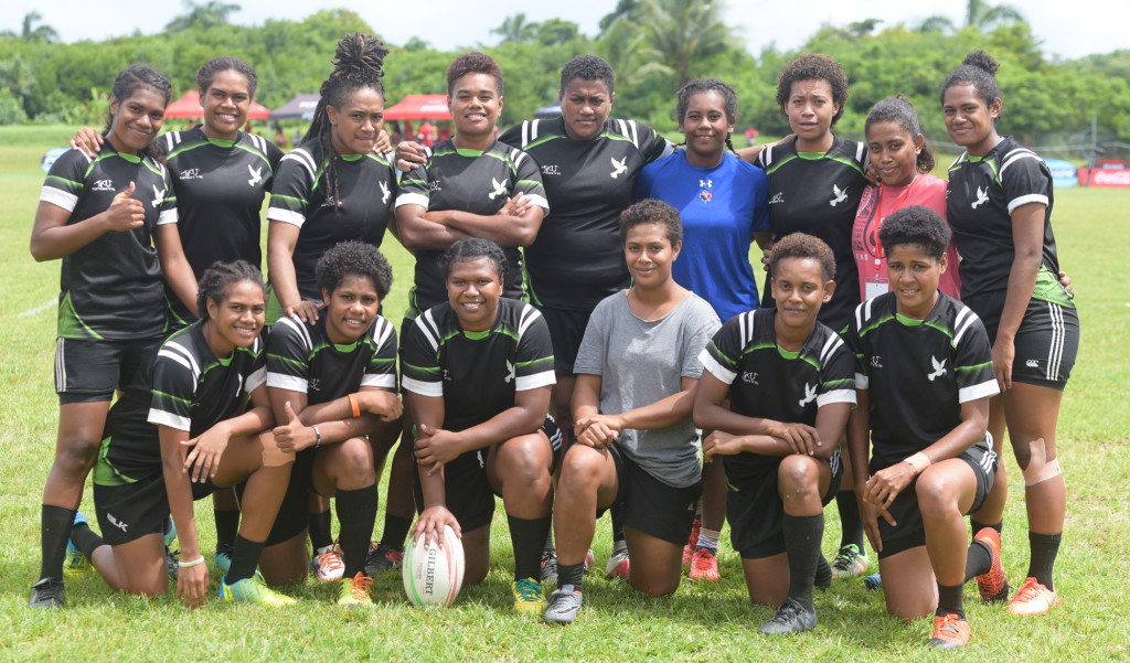 Hope women's 7s rugby side during 43rd Fiji Bitter Marist 7's at ANZ Stadium on March 22, 2019. Photo: Ronald Kumar.