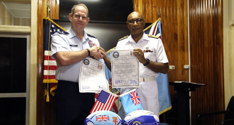 Nevada National Guard, Fiji, Sign Peacekeeping, Maritime Security MOU