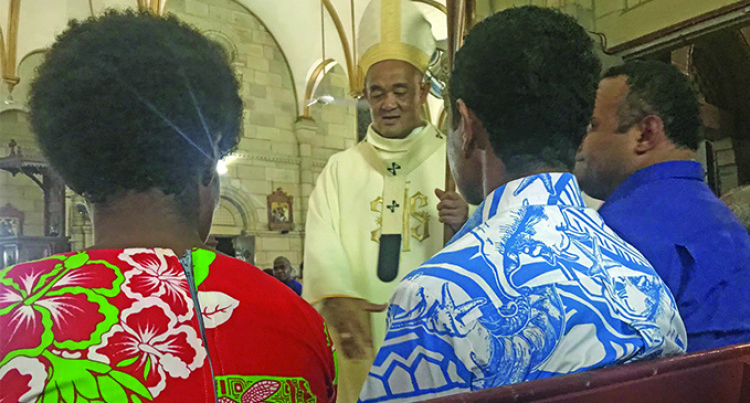 Hundred of Suva Catholics Celebrate Chrism Mass