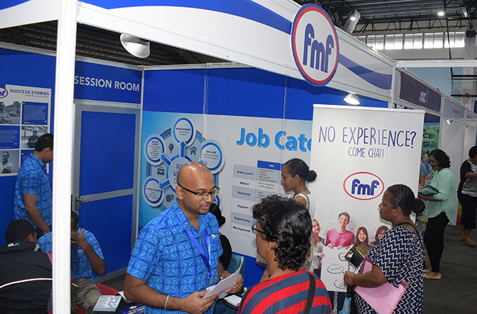 FMF booth during National Job fair at FMF Gymnasium on April 24, 2019. Photo: Ronald Kumar.