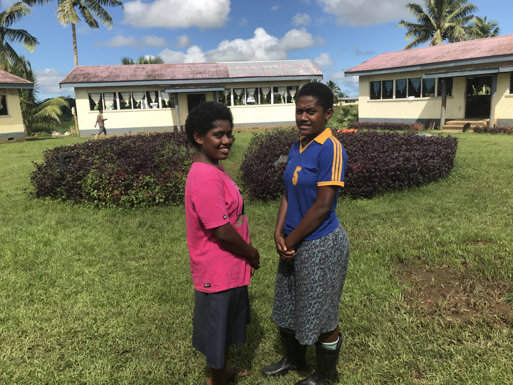First two female students of Navuso Technical College  Maraia Talatoka (left) and Vakacego Tawasevakadua . Photo: Ilaitia Ravuwai.