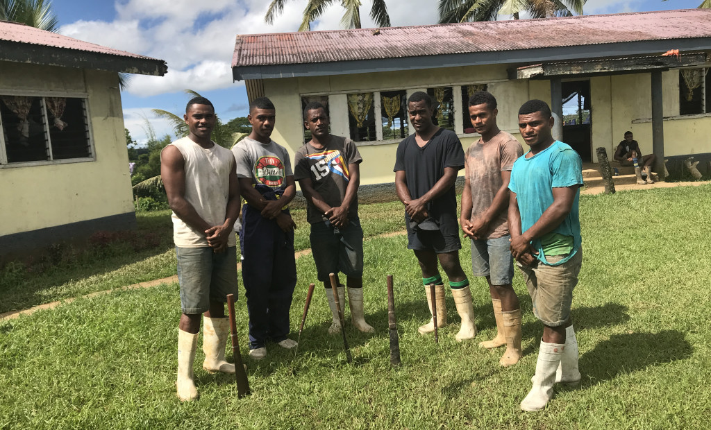 Year 4 students of Navuso Technical College (from left) Veresa Tumaimasi, Jeremaia Bose, Maciu Naisaki, Seniloli Komaisavai, Abraham Wilson and Iliesa Comara at school on April 1, 2019 . Photo: Ilaitia Ravuwai.