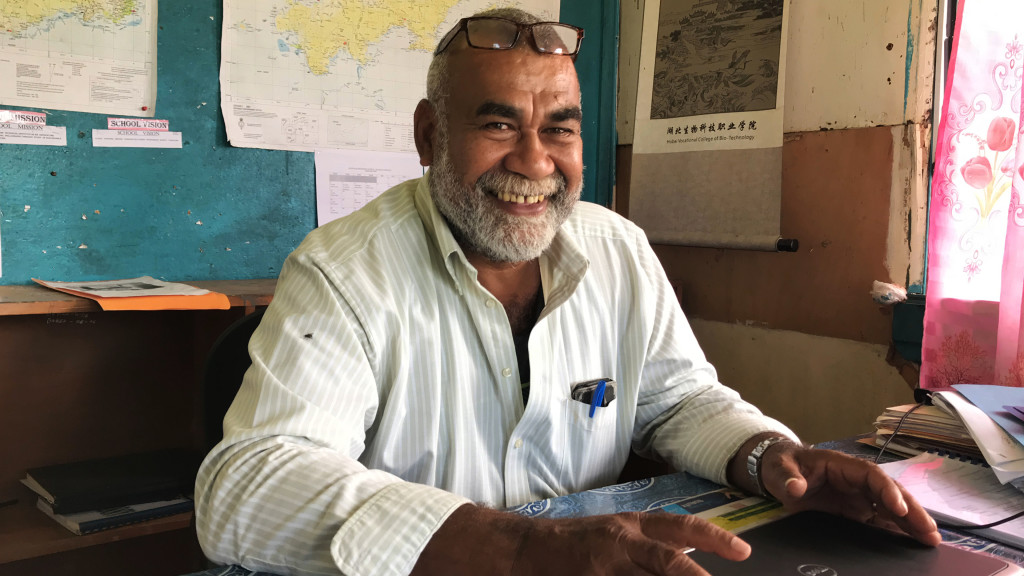 Navuso Technical College Principal Uraia Waibuta at school on April 1, 2019 . Photo: Ilaitia Ravuwai.