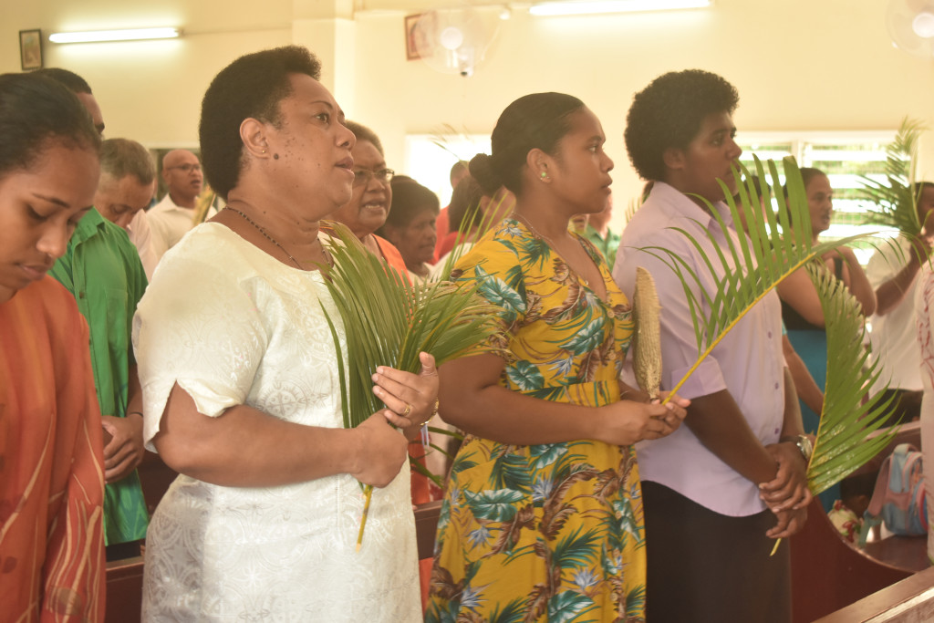 Saint Michaels Parish church members celebrating Palm sunday in Nadi on April 14, 2019. Photo: Mereleki Nai