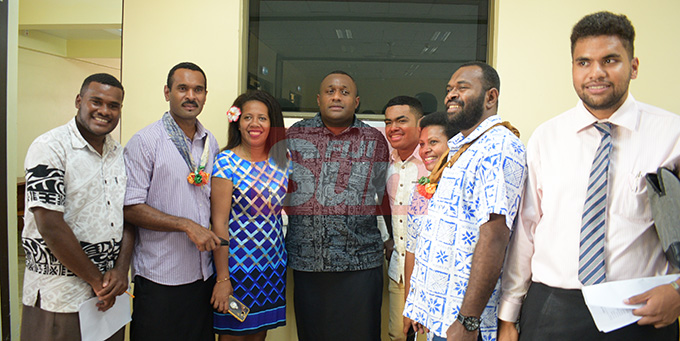 SODELPA Youths with Youth President Jope Kuruisavou during Young SODELPA AGM on April 30, 2019.Photo: Ronald Kumar.