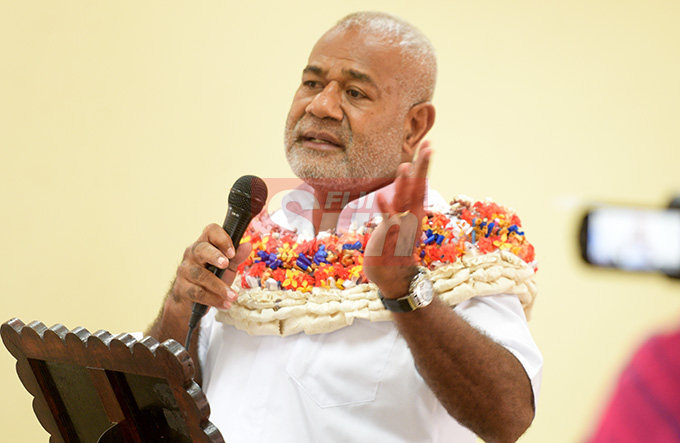 SODELPA Member of Parliament Simione Rasova  while speaking at Young SODELPA AGM in Suva on April 30, 2019. Photo: Ronald Kumar.