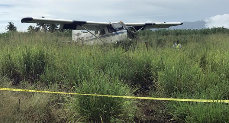 Turtle Airways Plane Lands In Cane Fields