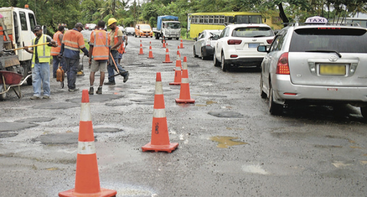 Fiji Roads Authority Starts Patching Potholes