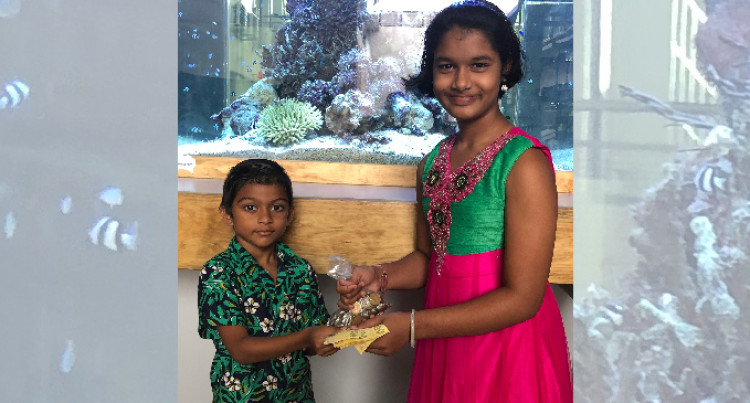 6 Year Old Aahil Muhammed Gives $1135 To  Help Special Student