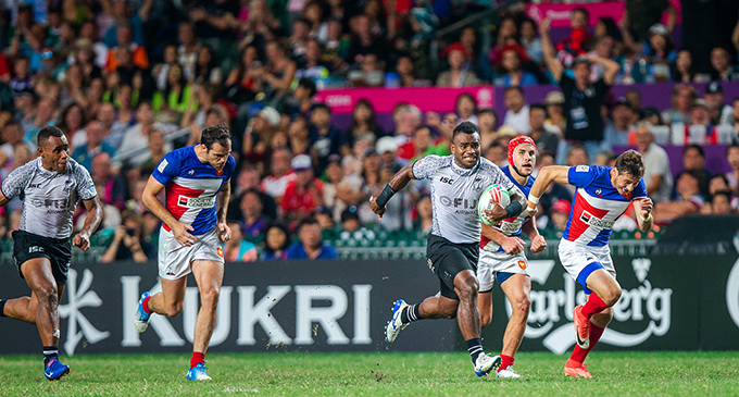 Fiji play France in the final of the Hong Kong 7s 2019. Photo:  Zoomfiji