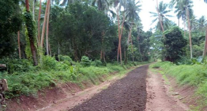 A Gau Island road after mintenance work. Photo: Fulton Hogan Hiways.