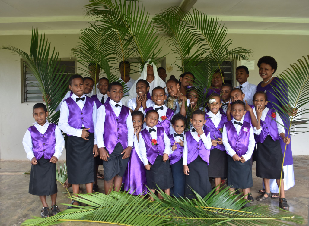Children of All Nation Christian Fellowship Church celebrated Palm Sunday at Kshatriya Hall in Labasa on April 14, 2019. Photo:Shratika Naidu