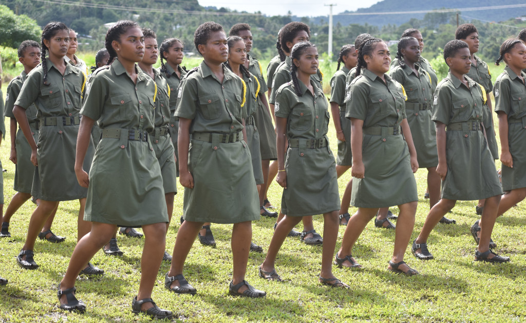 Army cadet pass out parade at All Saints Secondary School in Labasa on April 17, 2019.Photo: Shratika Naidu.
