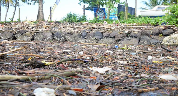 Marine debris litters picnic spots
