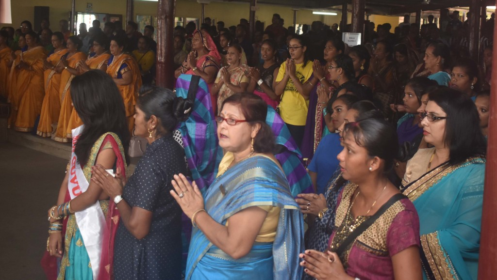 Women at the opening of the 60th Sanatan Annual Convention at Tuva Primary School, Nadroga yesterday. Photo:WAISEA NASOKIA