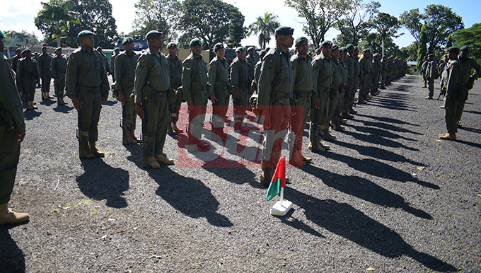 RFMF 3FIR personnel on Parade on at QEB on May 1,2019. Photo: Ronald Kumar.