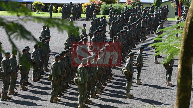 RFMF 3FIR unit on parade at QEB on May 1,2019. Photo: Ronald Kumar.