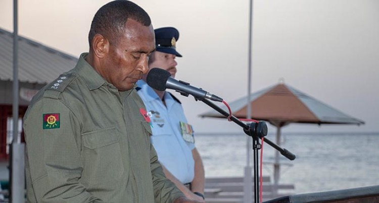 Fijian Chaplain Opens Memorial Day in Sinai
