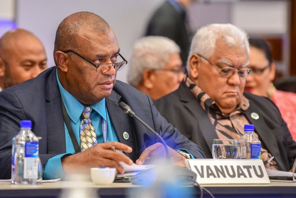 Vanuatu Governor Gaeten Pikioune at the 52nd ADB annual meeting.