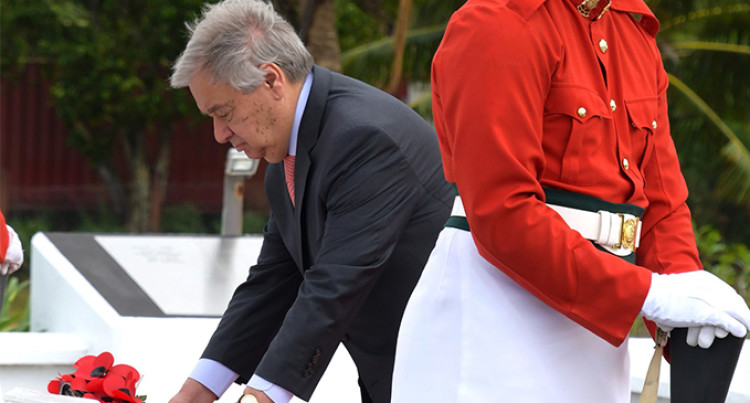 United Nations Secretary-General Pays Tribute To Fijian Peacekeepers for Sacrifice