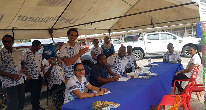 Fiji Development Bank Labasa Branch team during the FDB talanoa session at the old MH site on May 4, 2019. Photo: Fiji Development Bank facebook page