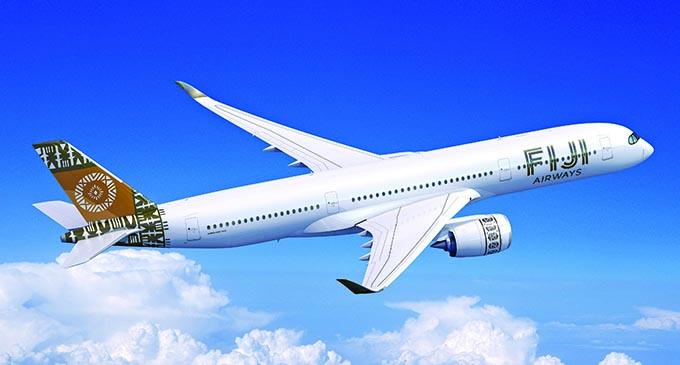 An artist's impression of the Fiji Airways Airbus A350 XWB.  Photo: Fiji Airways