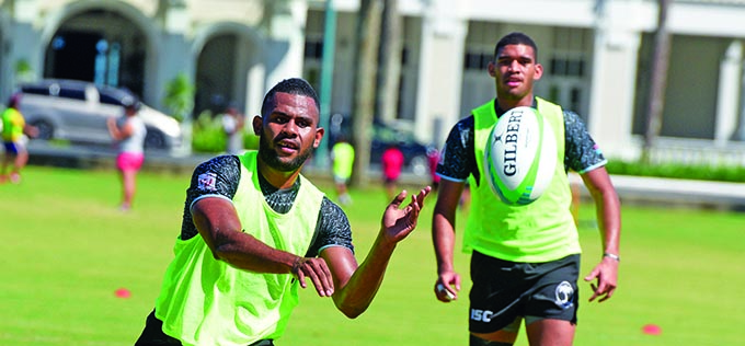 Fiji Airways Fijian 7s  rover Vilimoni Botitu  during training at Albert Park, Suva on May 1, 2019.  Photo: Ronald Kumar