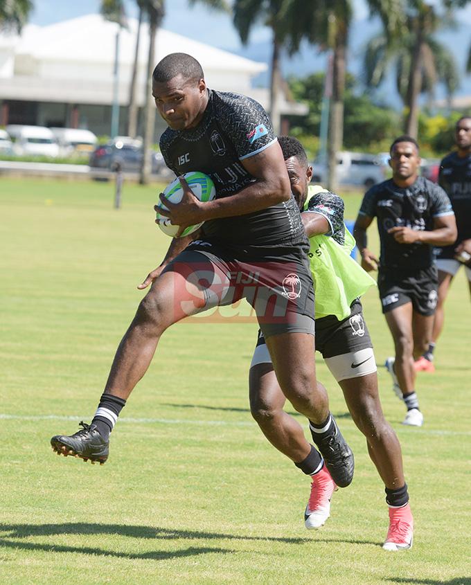 Fiji Sevens player Josua Vakurinabili during training at Albert Park on May 1, 2019. Photo: Ronald Kumar.