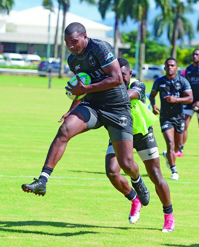 Fiji Airways Fijian 7s  forward Josua Vakurinabili during training at Albert Park, Suva on May 1, 2019.  Photo: Ronald Kumar